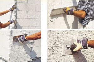 Штукатурим стены из газобетона