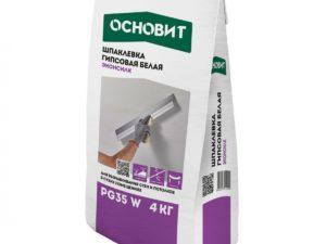 Шпаклевка гипсовая белая ОСНОВИТ ЭКОНСИЛК PG35 W 4 кг